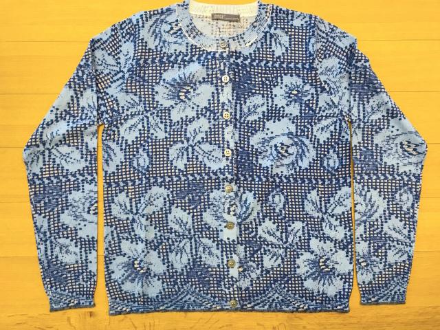Flower lace pattern Cardigan 花のレース柄カーディガン/アンサンブルニットCAW1562-01