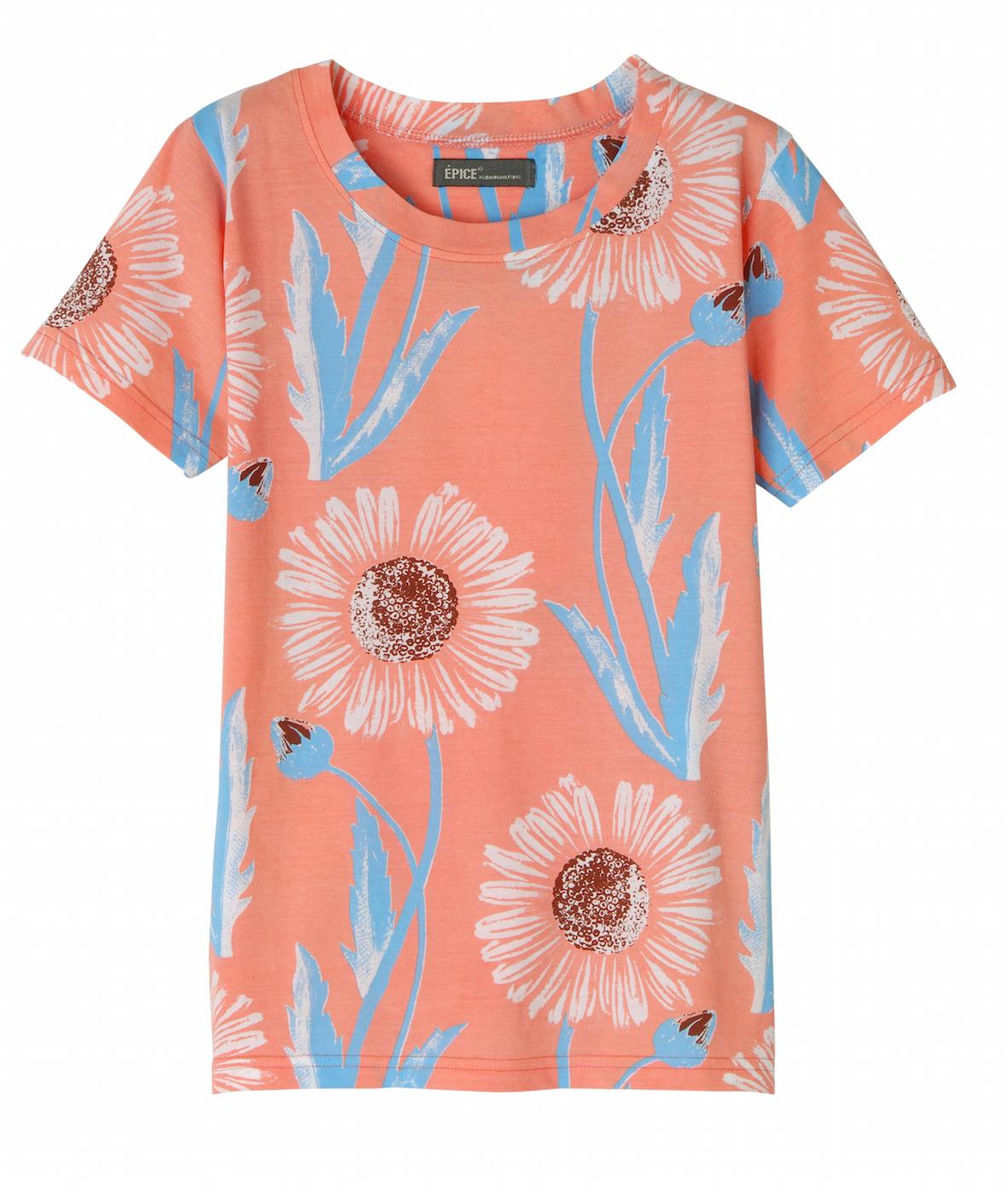 レディス T-Shirt FLORAL MOTIF TS1890-02