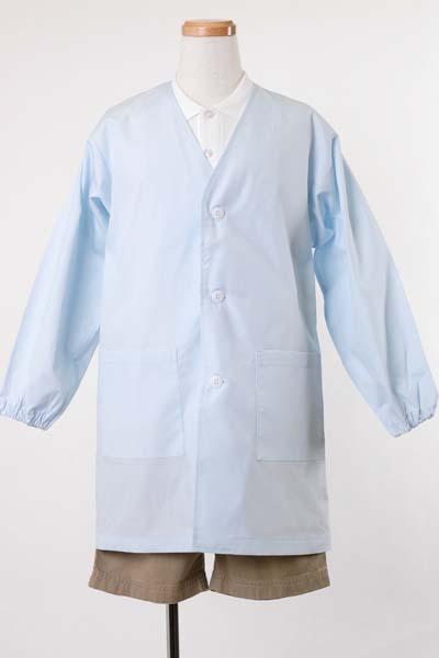 シングル給食衣PE111サックスブルー