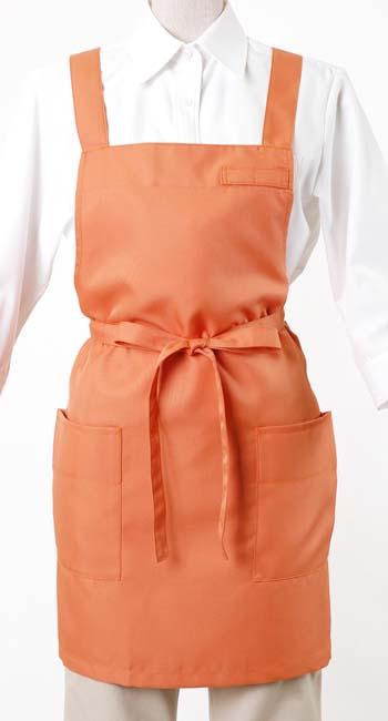 ショートエプロン(ポリエステルツイル)CT2398オレンジ