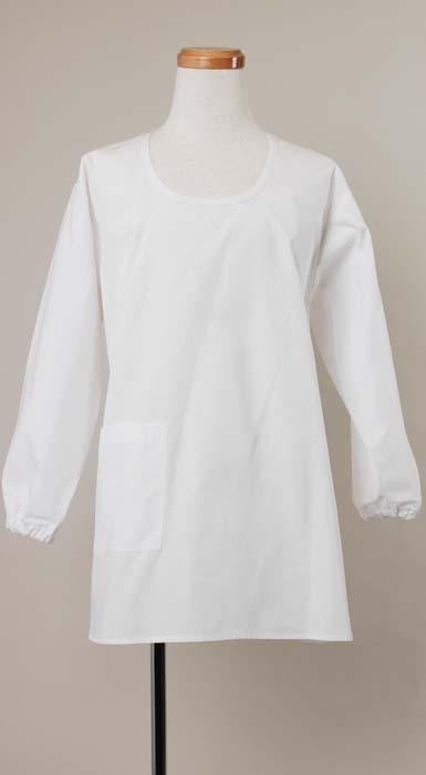 カッポウ型給食衣(男子女子兼用)ホワイト
