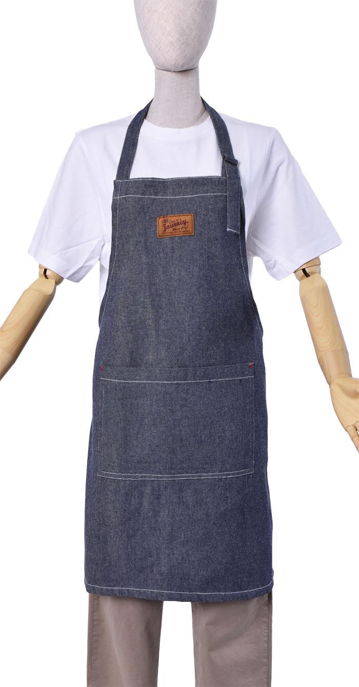 デニムライクフォルターネックエプロン【1点のみメール便可】
