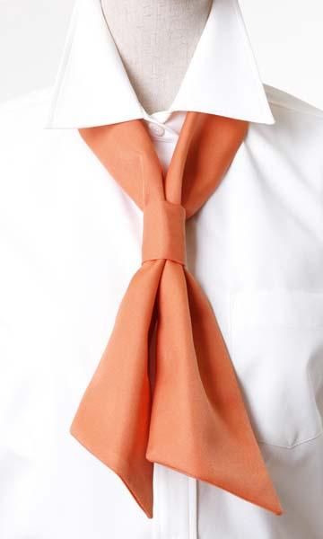 ワンタッチタイ(ポリエステルツイル)JY4673オレンジ