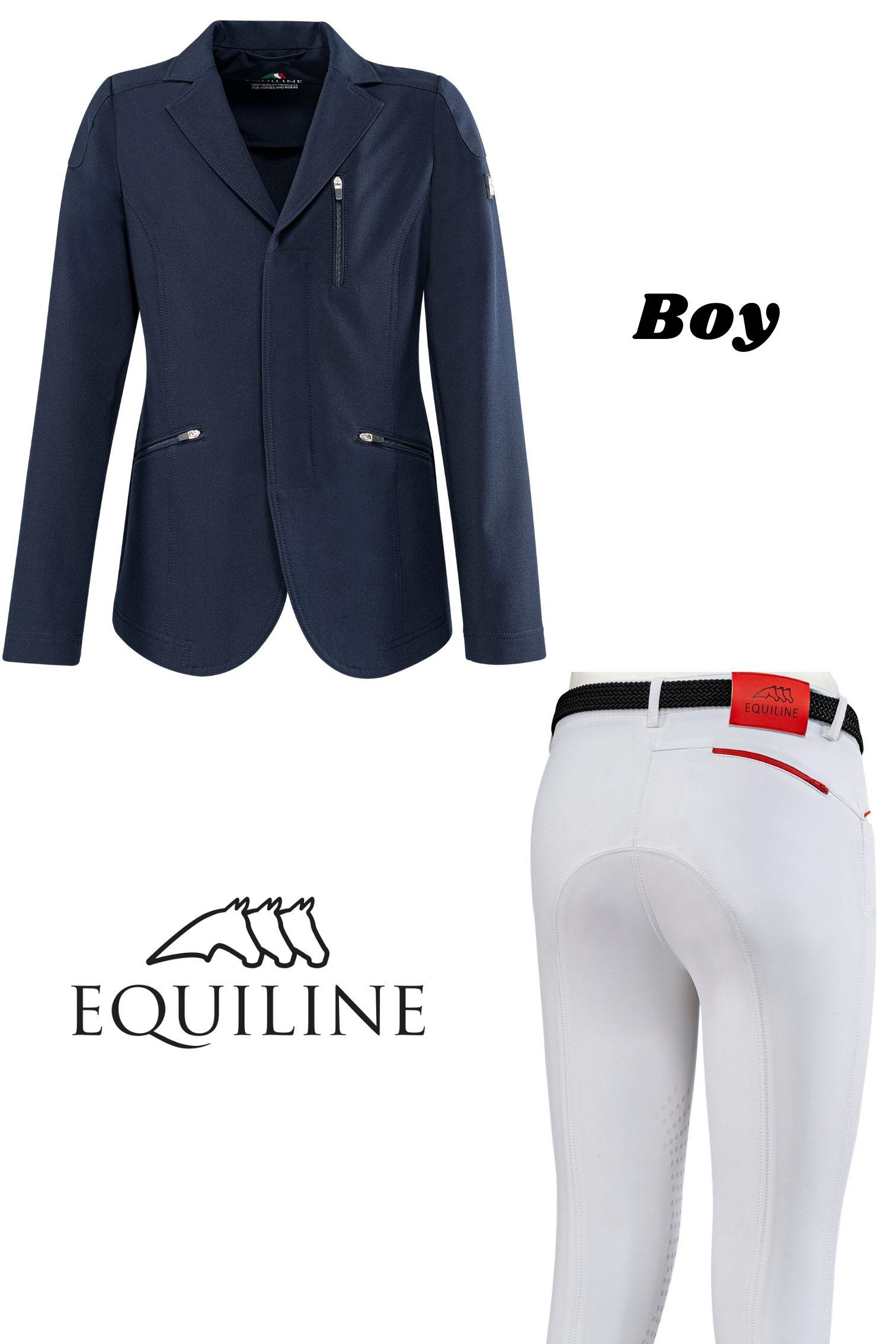 ◆ SALE!◆ EQUILINE ジュニア用競技ウエア2点セット(エクイライン・男の子用/10-11)