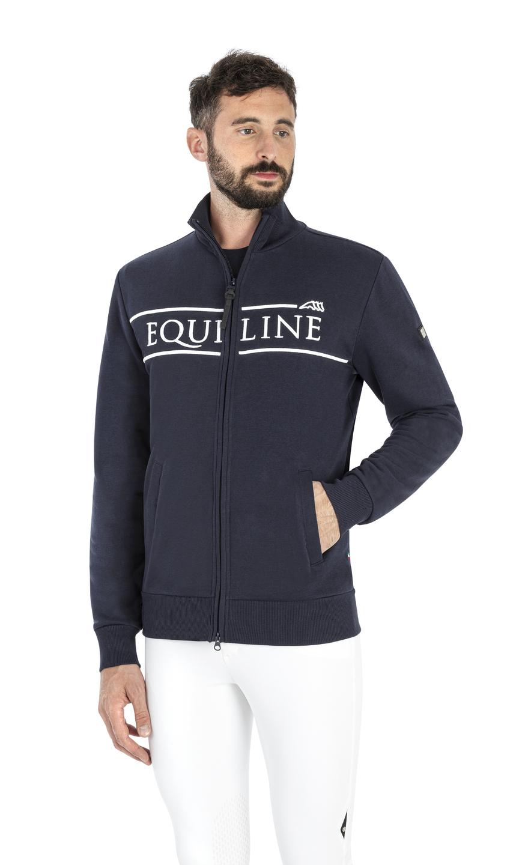"""● NEW!● EQUILINE 2021 LOGO COLLECTION """"Cenzac""""・エクイライン ロゴコレクション/メンズスエットジャケット"""