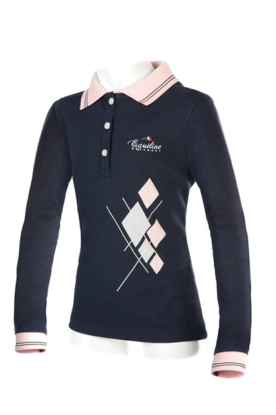◆ SALE!◆ EQUILINE Flora・エクイライン ジュニア用長袖ポロシャツ(女の子用/10-11)