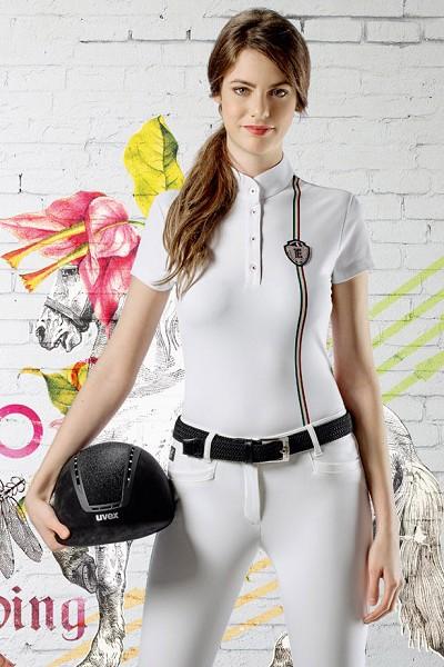 ◆ SALE!◆ EQUILINE Mandy・エクイライン レディース競技用ポロシャツ(ホワイト/40)