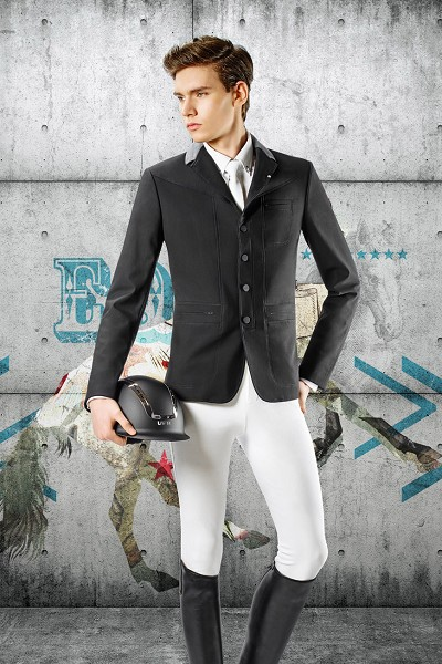 ◆ SALE!◆ EQUILINE George・エクイライン メンズ競技用ジャケット(ブラック/48)