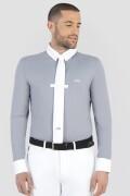 ● NEW!● EQUILINE CITREC・エクイライン メンズ長袖競技用ポロシャツ(グラフィティグレー/M)