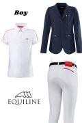 ◆ SALE!◆ EQUILINE ジュニア用競技ウエア3点セット(エクイライン・男の子用/10-11)