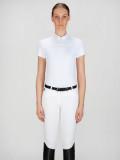 ◆ SALE!◆ EQUILINE Catherine・エクイライン レディース競技用ポロシャツ(ホワイト/40)