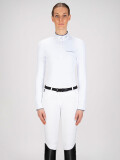 ◆ SALE!◆ EQUILINE Gracielle・エクイライン レディース競技用ポロシャツ(ホワイト/40)