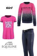 ◆ SALE!◆ EQUILINE ジュニア用ライディングウエア3点セット(エクイライン・女の子用/10-11)