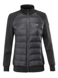 ● SALE!● EQUILINE・エクイライン レディース異素材ミックスジャケット(ブラック/S)