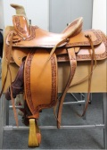 "ウエスタンサドル ""Capriola Roping Row Hide Stirrup"""