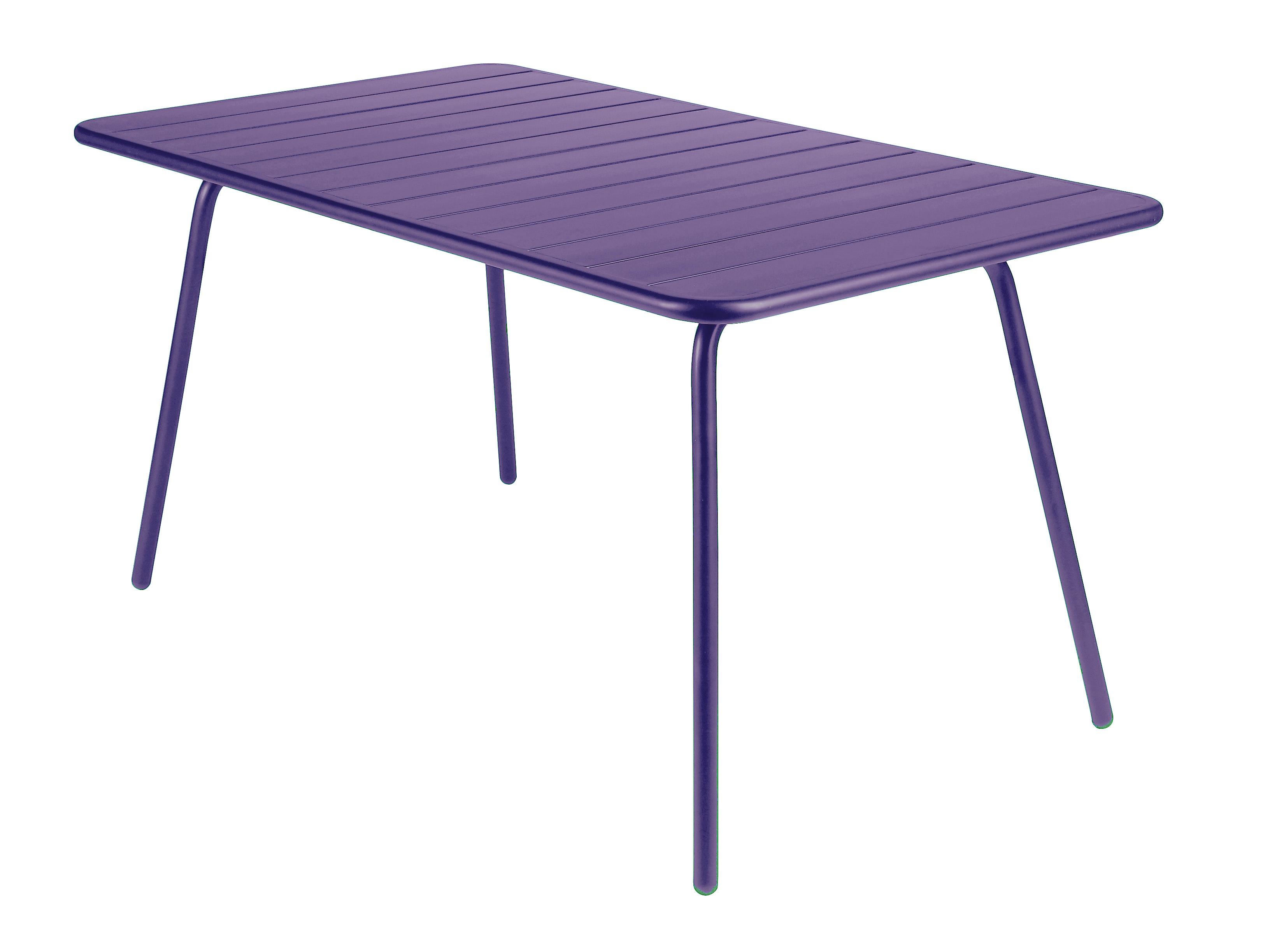 ルクセンブールテーブル80x143プラム