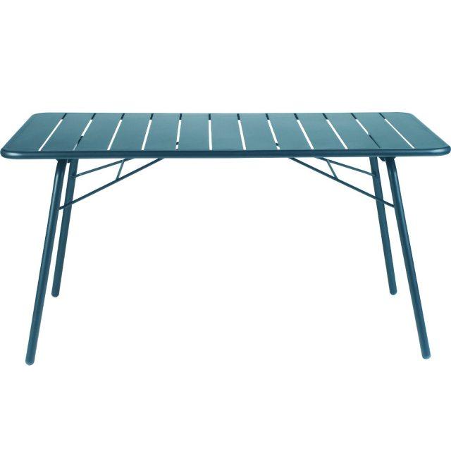 ルクセンブールテーブル80x140/フィヨルドブルー