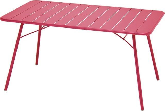 ルクセンブールテーブル80x140/フクシア(ピンク)