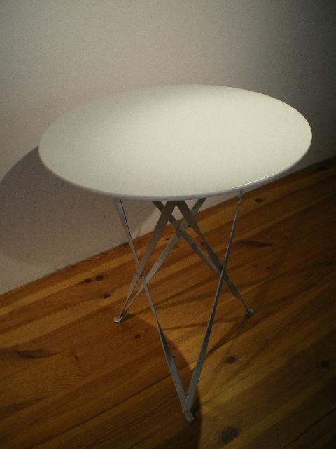 シンプルXテーブル/ホワイト(屋内用)