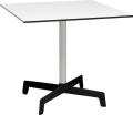 スプートニクテーブル80x80/ホワイト天板+ブラックベース