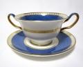 ウェッジウッド(Wedgwood)ユーランダーパウダーブルー スープカップ&ソーサー