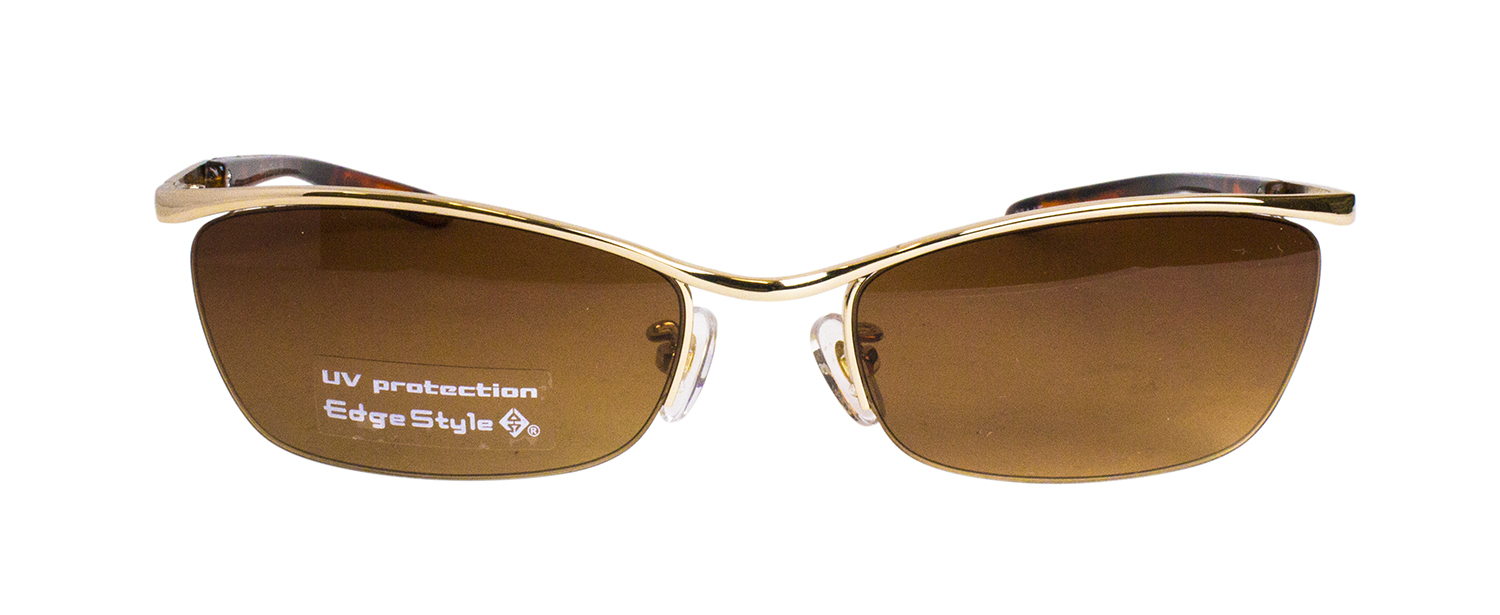 ES402-1(Frame:Gold/Lens:Brown Half)
