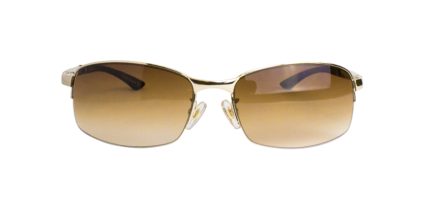 ES906-1(Frame:Gold/Lens:Brown Half)