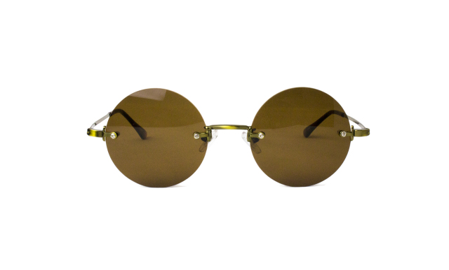 ES022-1(Frame:Antique Gold/Lens:Brown)