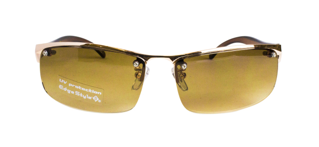 ES302-1(Frame:Gold/Lens:Brown Half)