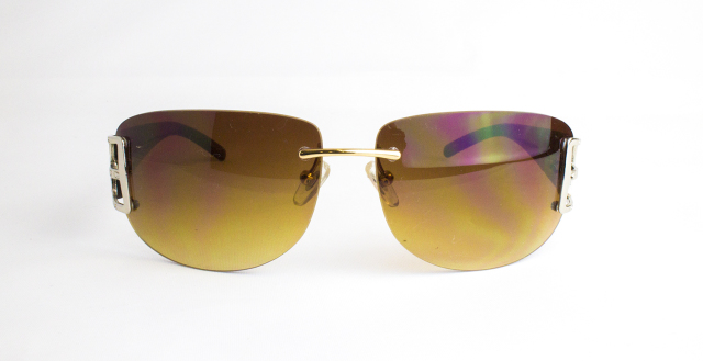ES511-1(Frame:Silver Gold/Lens:Brown Gradation)