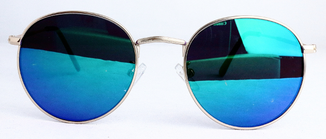 ES701-3(Frame:Gold/Lens:Blue Mirror)