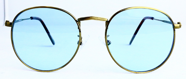 ES701-5(Frame:Antique Gold/Lens:Light Blue)
