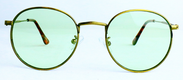 ES701-6(Frame:Antique Gold/Lens:Light Green)