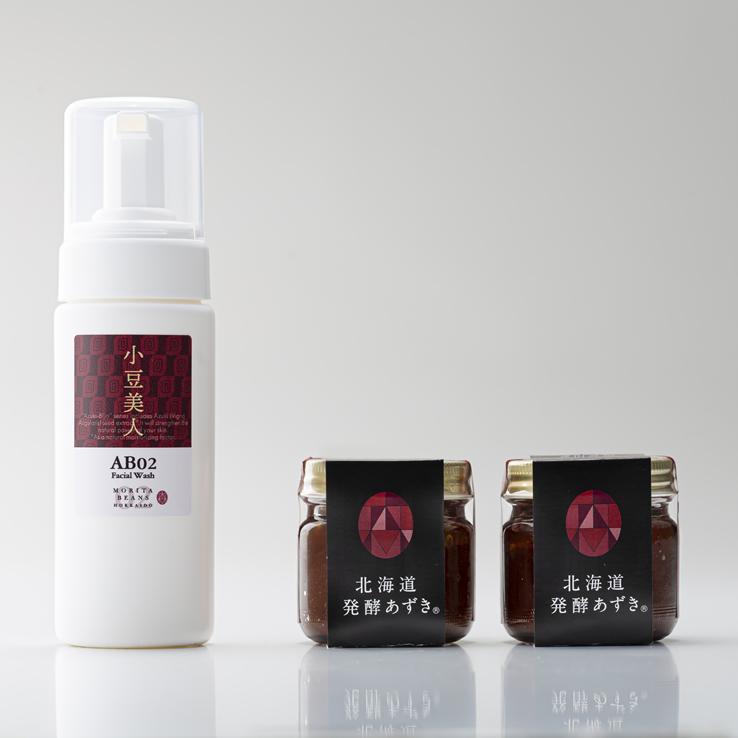 【送料無料】小豆美人フェイシャルウォッシュ+発酵あずきセット(20%お得!) 代引き不可 日時指定不可