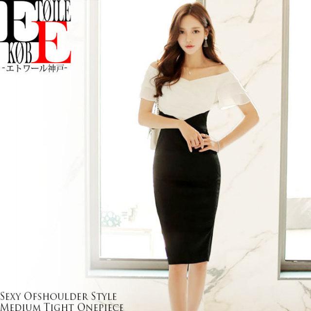 ワンピース_セクシー_ミディアム_タイト_韓国ファッション