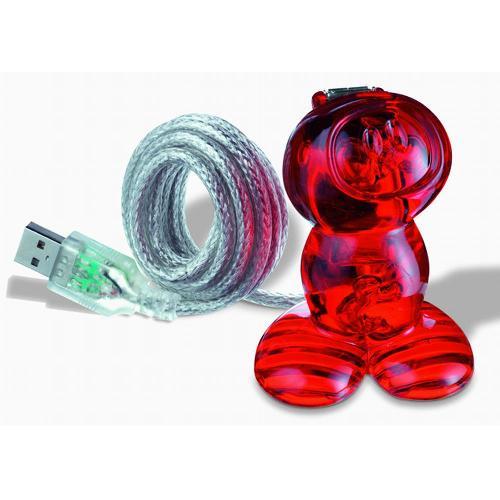 コジオル koziol USBステーション NEIL T.レッド 2003-KZ5941-536