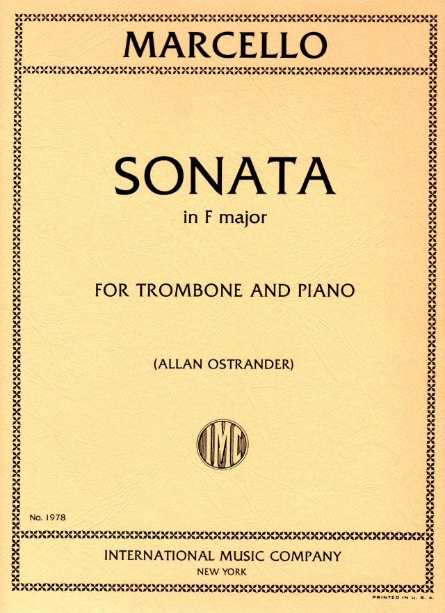 Benedetto Marcello/ Sonata in F major  マルチェロ/ソナタ ヘ長調 (Allan Ostrander編)
