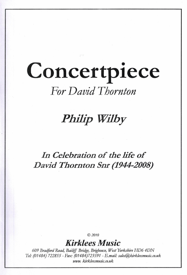 Philip Wilby/ Concert Piece   フィリップ・ウィルビー/コンサート・ピース(演奏会用小品)