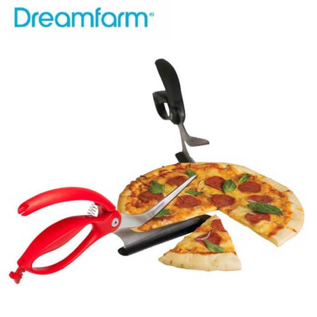 ドリームファーム Dreamfarm シッザ ハサミ型ピザカッター・サーバー【動画】