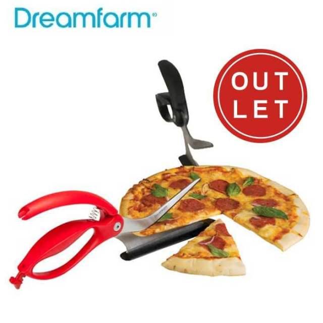 ドリームファーム Dreamfarm シッザ ハサミ型ピザカッター・サーバー【アウトレット・訳あり】