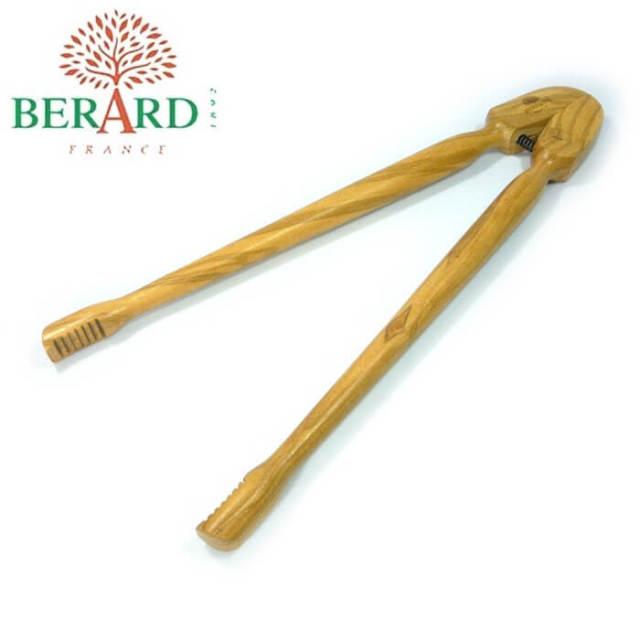 ベラール BERARD オリーブの木 菜箸トング(バネ式)パン・トースト用#52175