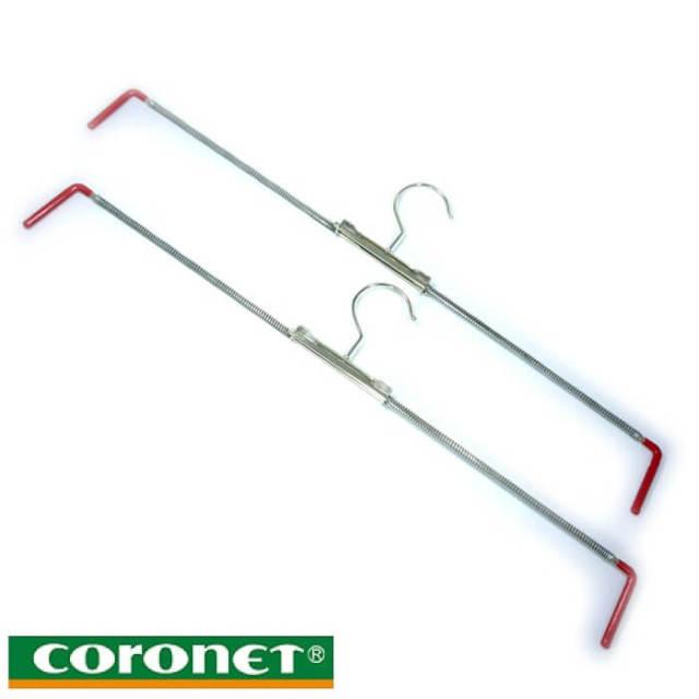 コロネット Coronet 滑り止めスカート・ズボンハンガー2本組(大きいサイズ用)【アウトレット】【Z】