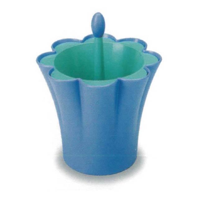 ジオスタイル GIOSTYLE カトラリー立て 青 イタリア製 アウトレット