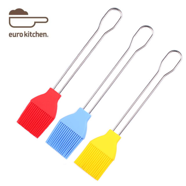ユーロキッチン eurokitchen シリコンブラシ ステンレス柄 シリコン刷毛 食洗機OK