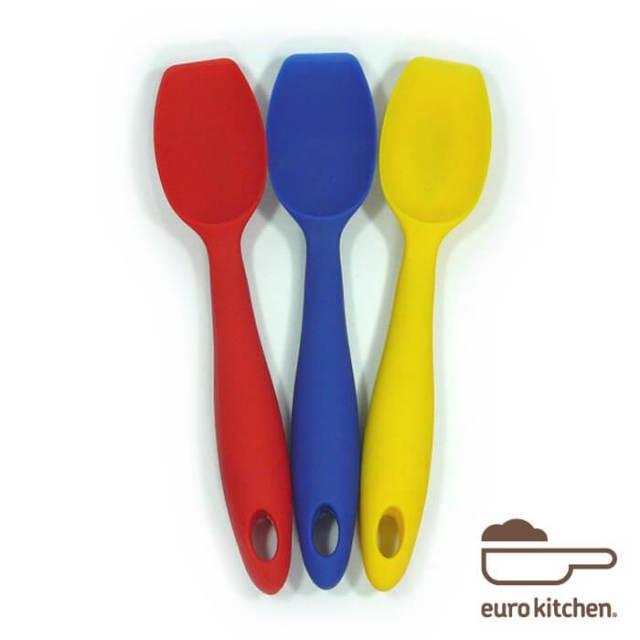ユーロキッチン eurokitchen 一体型ホールシリコンスクープ(スプーン型スパチュラ) 小 シリコンへら【ハンドクリーナー】
