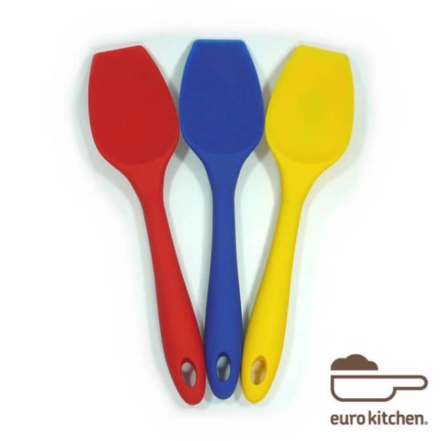 ユーロキッチン eurokitchen 一体型ホールシリコンスクープ(スプーン型スパチュラ) シリコンへら ハンドクリーナー