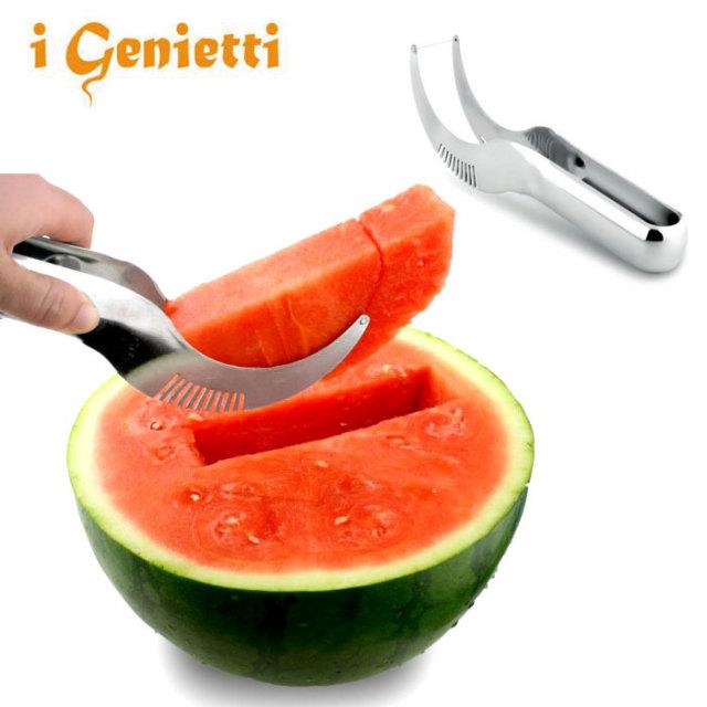 ジェニエッティ i Genietti スイカカッター ANGURELLO 【西瓜 カッター ナイフ おしゃれ スイカ専用ナイフ】