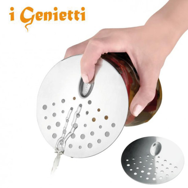 ジェニエッティ i Genietti 缶水切り SCOLABARATTOLI 【ストレーナー,水切り,缶,水,片手でラクラク】