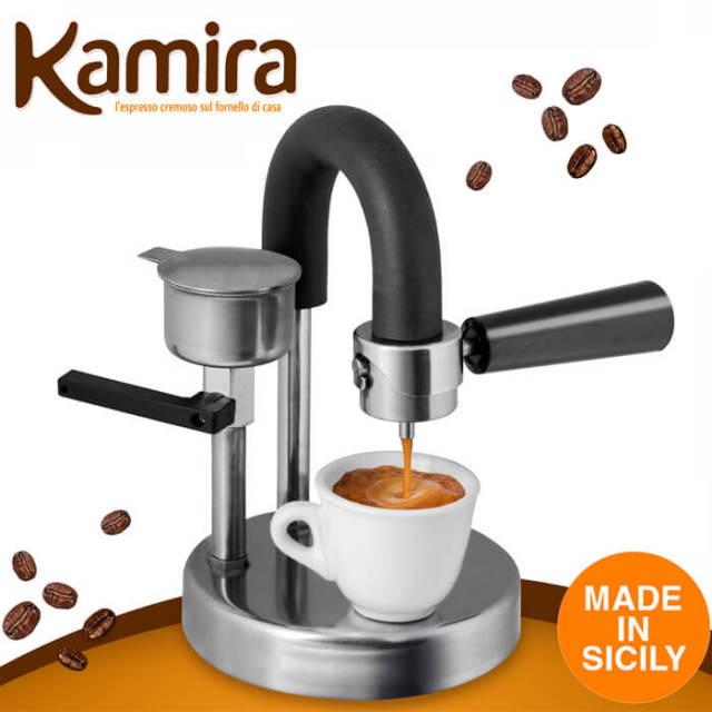 カミラ Kamira エスプレッソメーカー ガス火・IH対応 ハンドメイド・イタリア製 紙フィルター不要