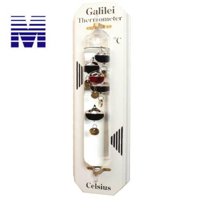 ガリレオ温度計 壁掛け式 白